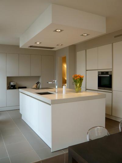 White Kitchen Grey Worktop white handleless kitchens - true handleless kitchens.co.uk
