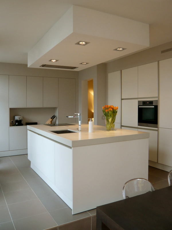 White handleless kitchens true handleless - Cuisine integree ...