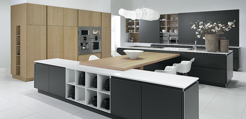 German kitchens true handleless for German kitchen cabinets